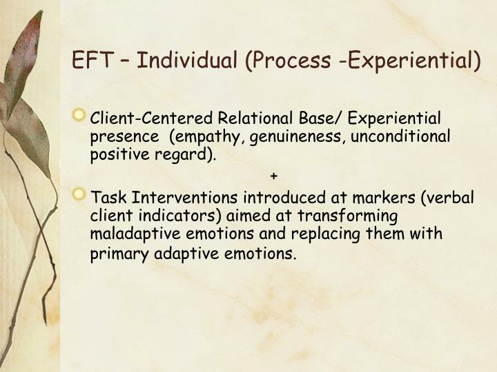 EFT – Individual (Process -Experiential)