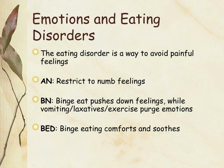 Emotions and Eating Disorders