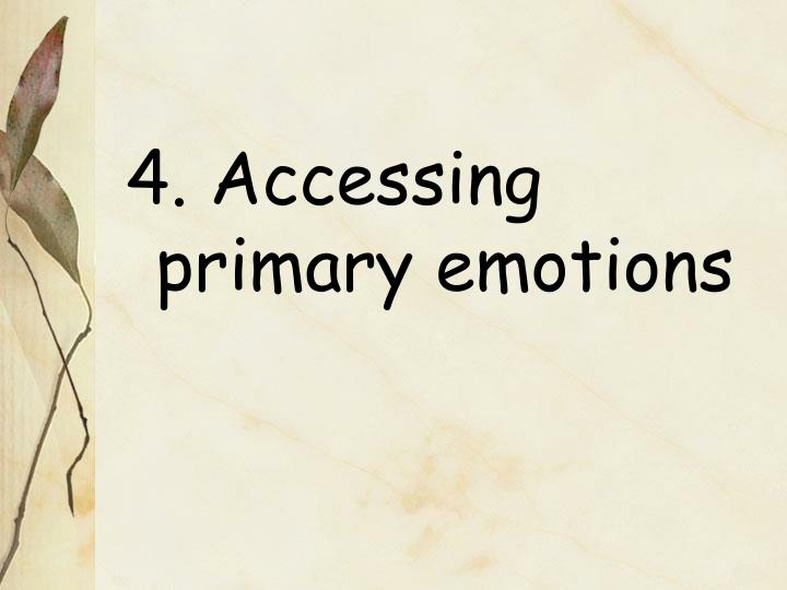 4. Accessing primary emotions