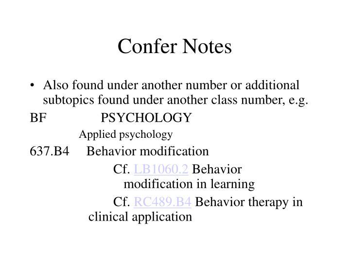 Confer Notes