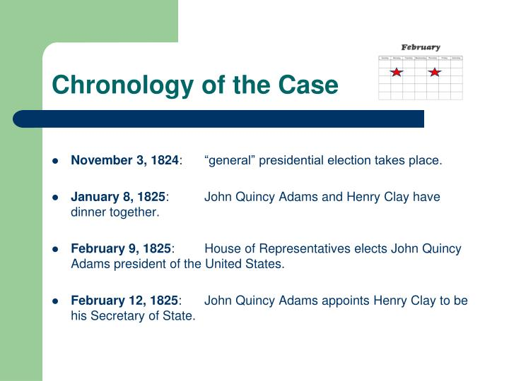 Chronology of the Case