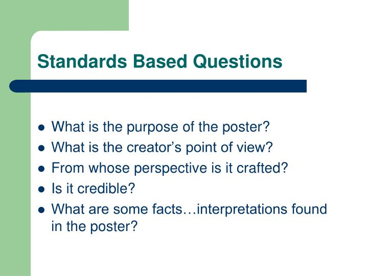 Standards Based Questions