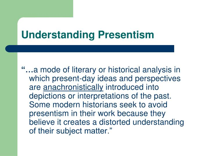 Understanding Presentism
