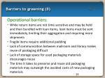 barriers to greening ii