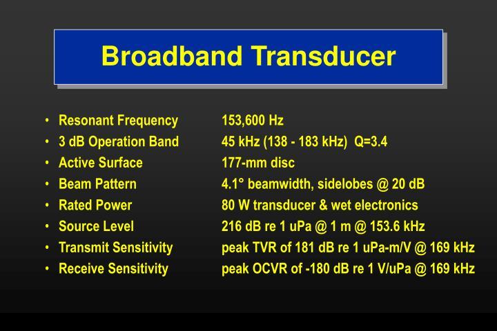 Broadband Transducer