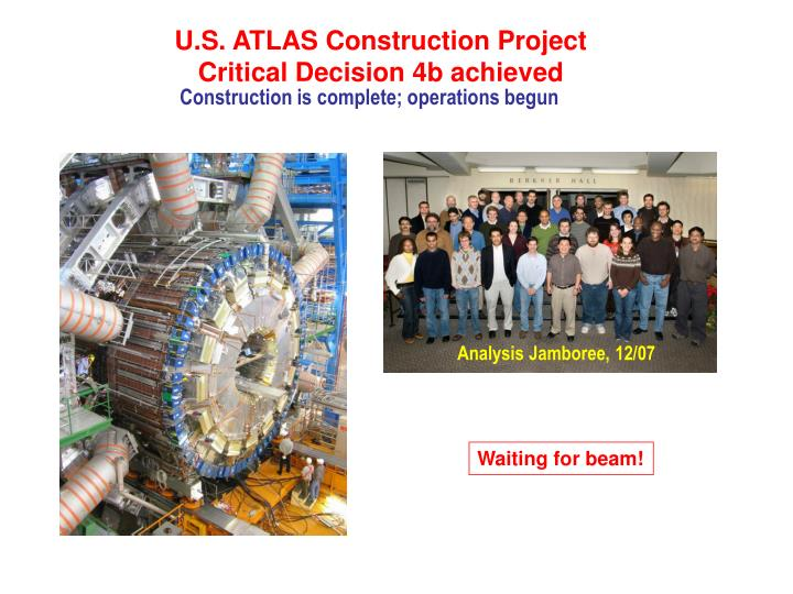 U.S. ATLAS Construction Project