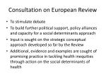 consultation on european review