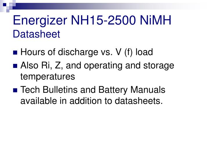 Energizer NH15-2500 NiMH
