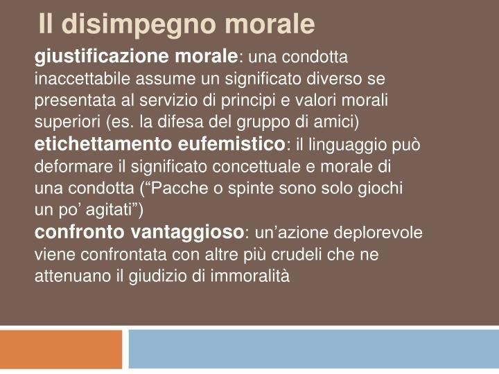 Il disimpegno morale