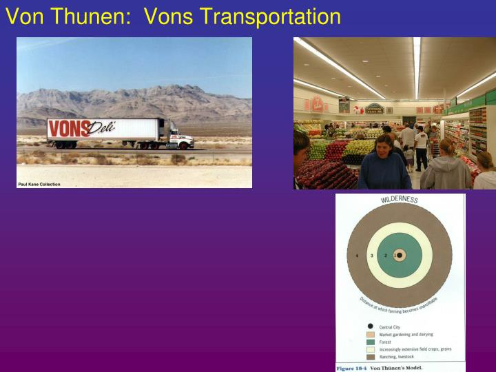 Von Thunen:  Vons Transportation