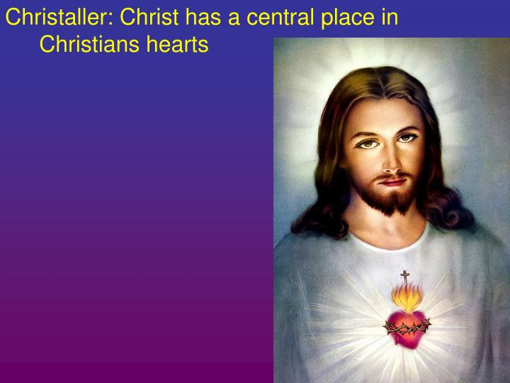 Christaller: Christ has a central place in Christians hearts