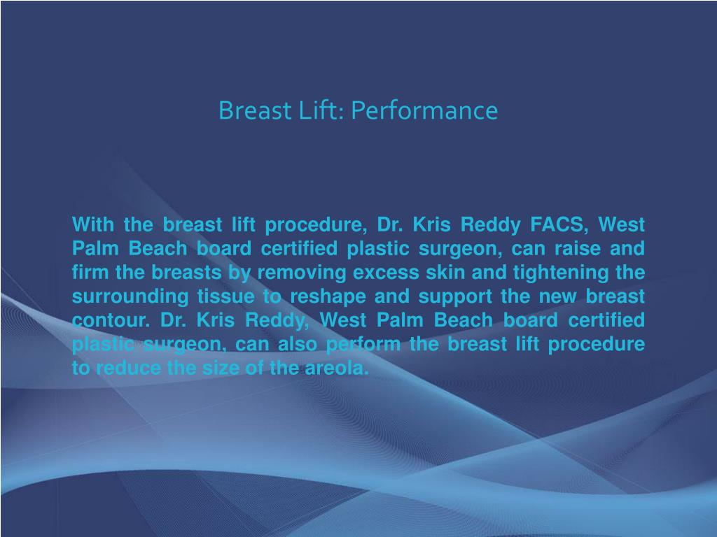 Breast Lift: Performance
