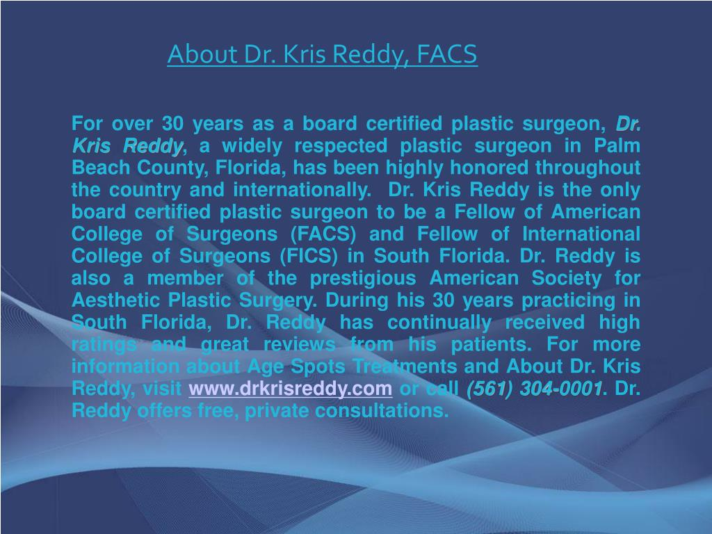 About Dr. Kris Reddy, FACS