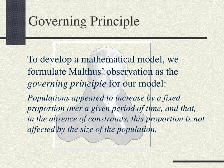 Governing Principle