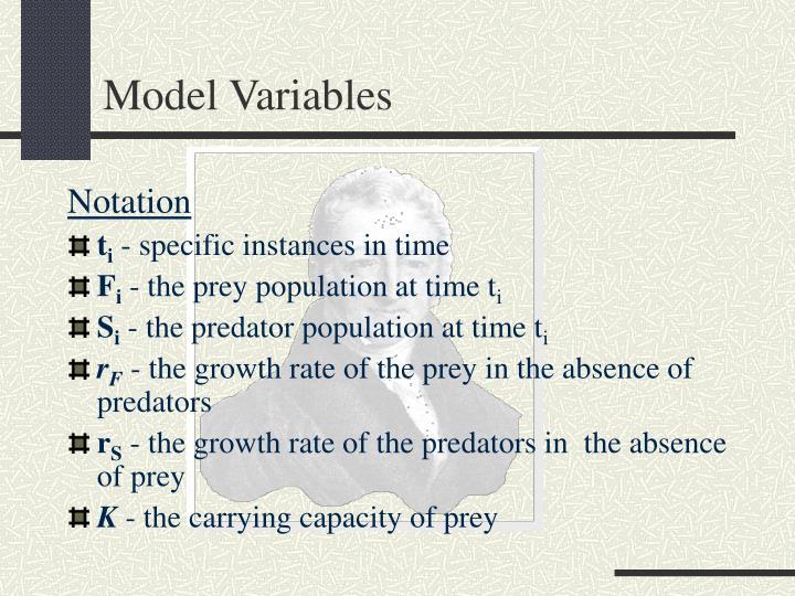 Model Variables