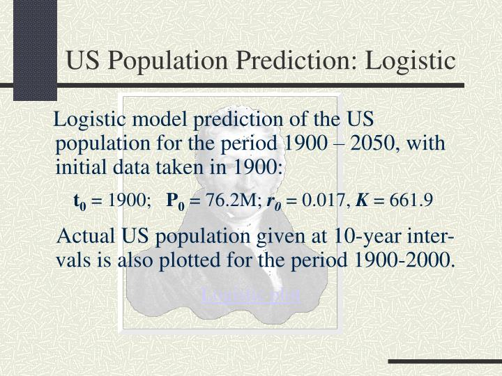 US Population Prediction: Logistic