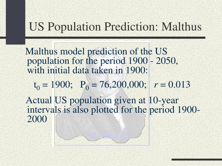 US Population Prediction: Malthus