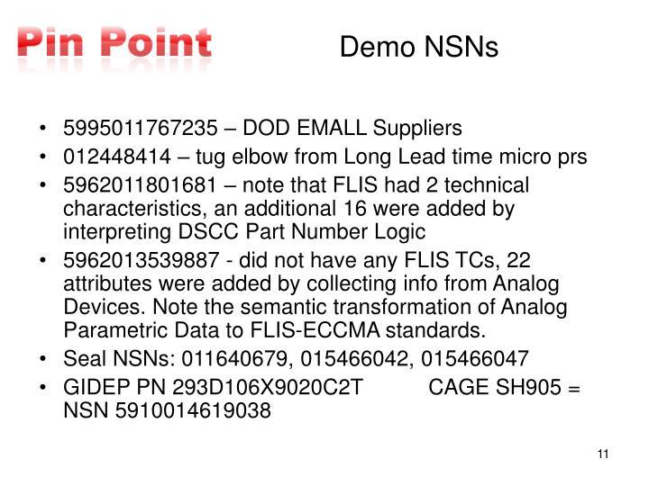 Demo NSNs