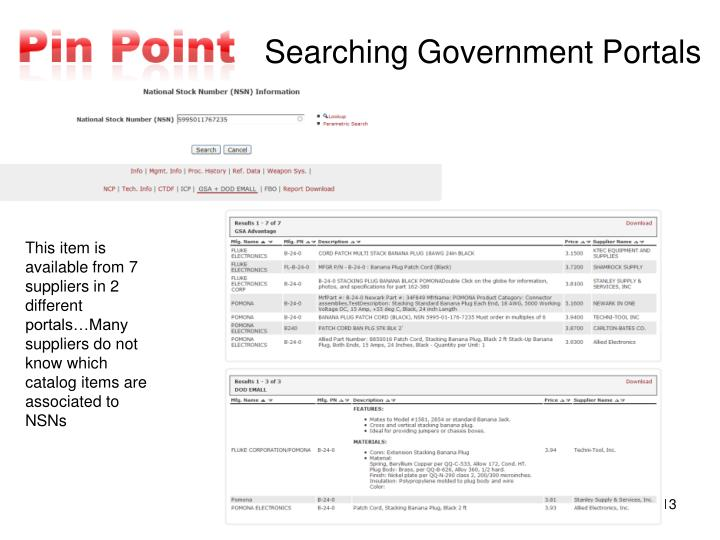 Searching Government Portals