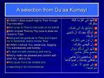 a selection from du aa kumayl
