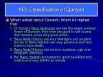 ali s classification of quraish