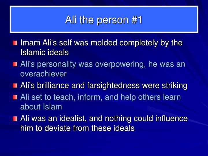 Ali the person #1