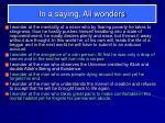 in a saying ali wonders