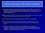 select sayings of ali about intellect