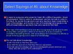 select sayings of ali about knowledge