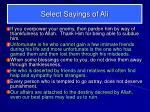 select sayings of ali2