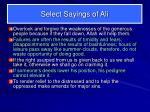 select sayings of ali3