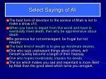 select sayings of ali4