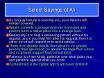 select sayings of ali7