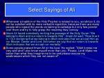 select sayings of ali8