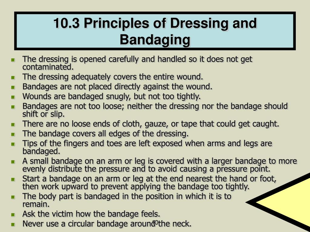 10.3 Principles of Dressing and