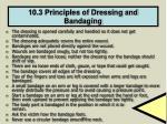 10 3 principles of dressing and bandaging