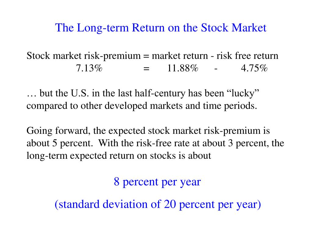 The Long-term Return on the Stock Market