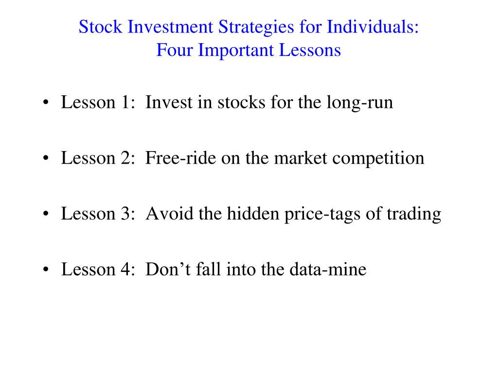 Stock Investment Strategies for Individuals: