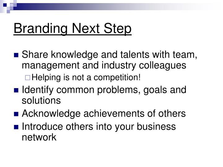 Branding Next Step