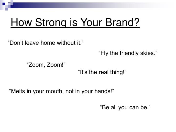 How strong is your brand