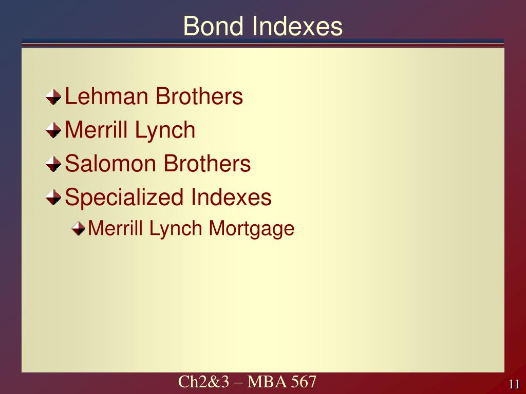 Bond Indexes