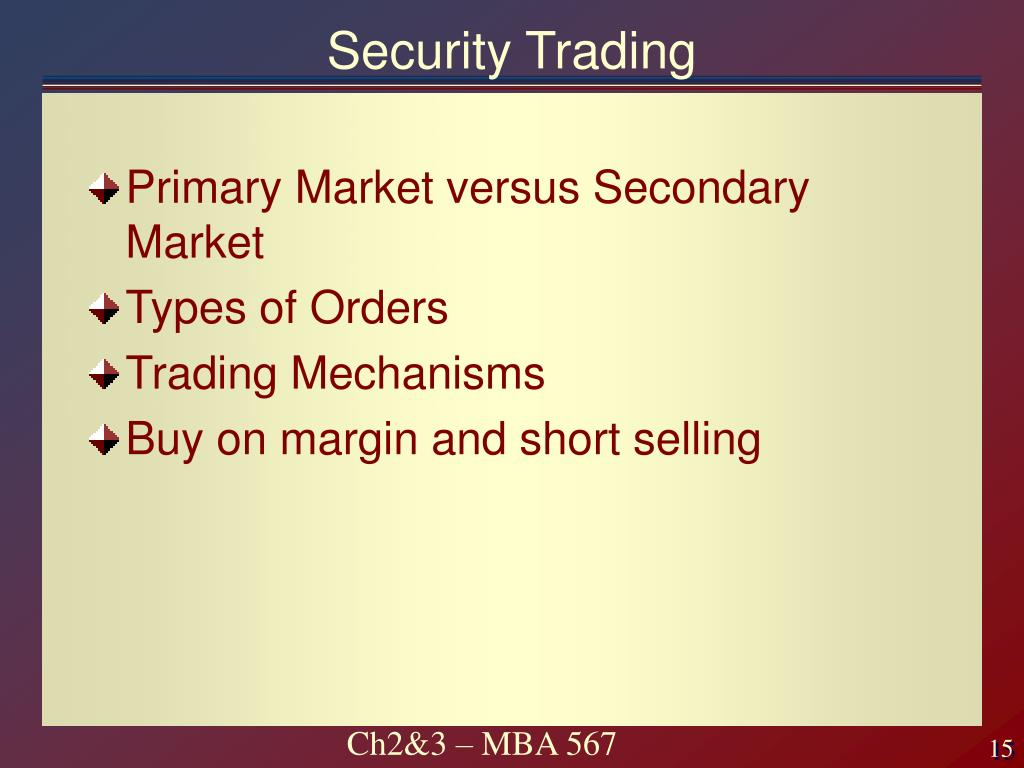 Security Trading