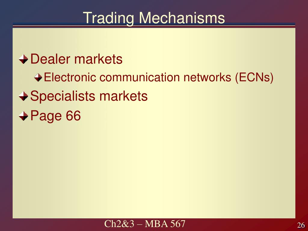 Trading Mechanisms