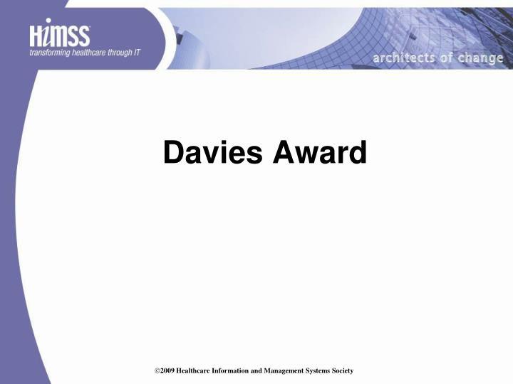 Davies Award