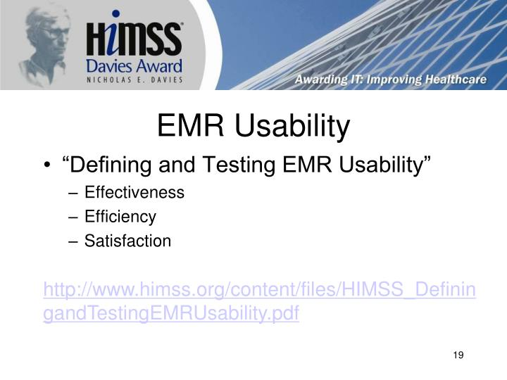 EMR Usability