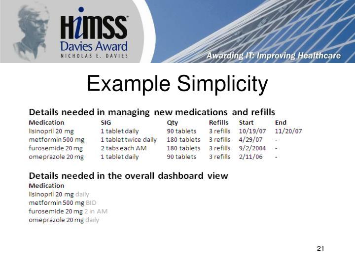 Example Simplicity