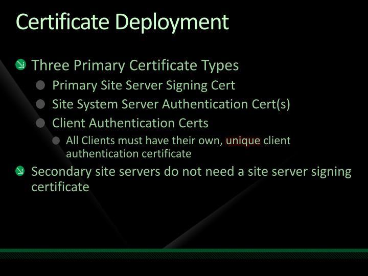 Certificate Deployment