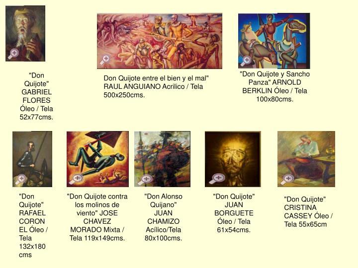 """""""Don Quijote y Sancho Panza"""" ARNOLD BERKLIN Óleo / Tela 100x80cms."""