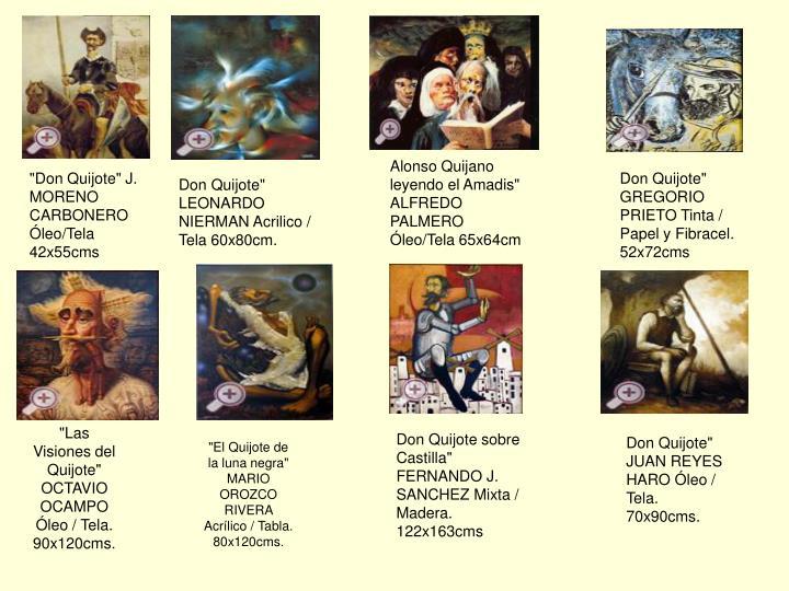 "Alonso Quijano leyendo el Amadis"" ALFREDO PALMERO Óleo/Tela 65x64cm"