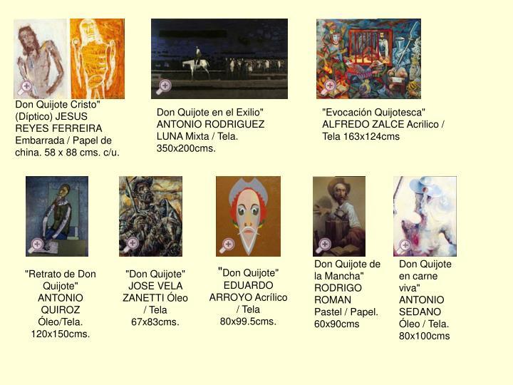 "Don Quijote Cristo"" (Díptico) JESUS REYES FERREIRA Embarrada / Papel de china. 58 x 88 cms. c/u."